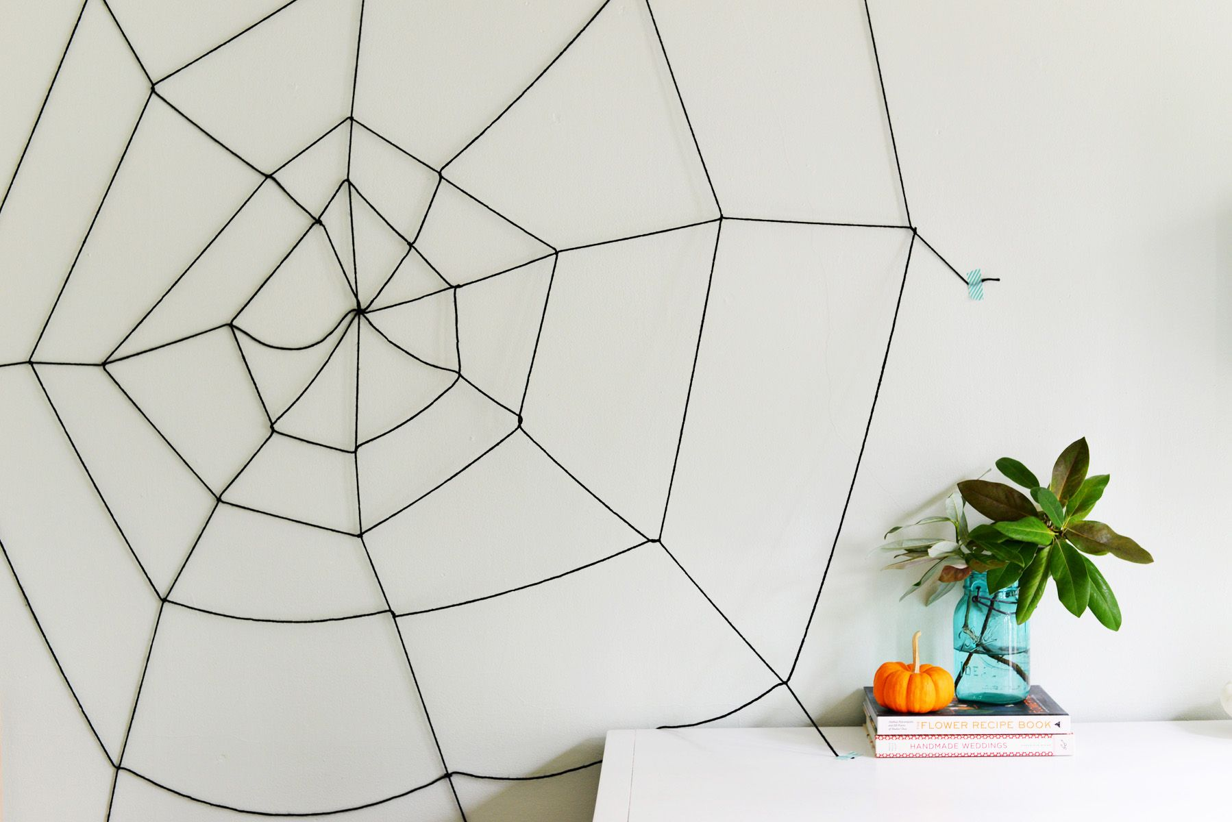 Easy Diy Halloween Yarn Spider Web