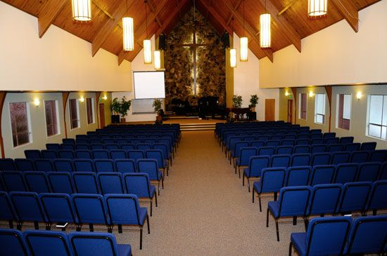 traditional church with chairs instead of pews - Church Chairs For Sale
