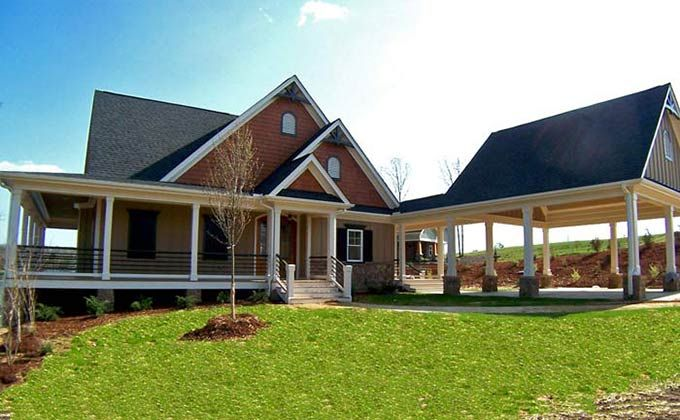 3 Bedroom Open Floor Plan With Wraparound Porch And Basement House Plans House With Porch Basement House Plans