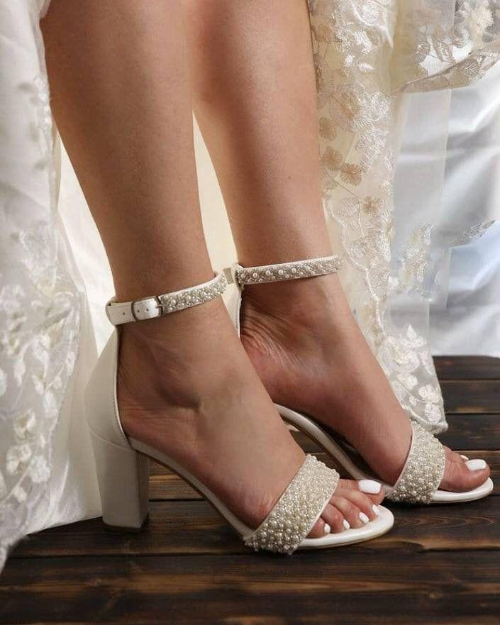 Bridal Shoes Wedding Strappy Sandals Bridal Sandals For Etsy In 2021 Strappy Wedding Shoes Strappy Sandals Wedding Wedge Sandals Wedding