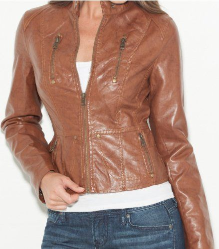 G by GUESS Pitta Faux-Leather Jacket