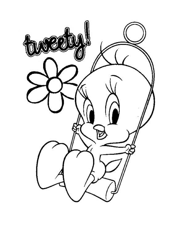Baby Looney Tunes Cute Tweety In Baby Looney Tunes Coloring