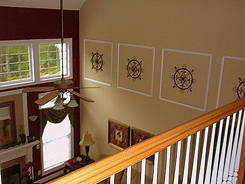 amusing two story living room | Two story wall decorating ideas | Foyer decorating, Family ...
