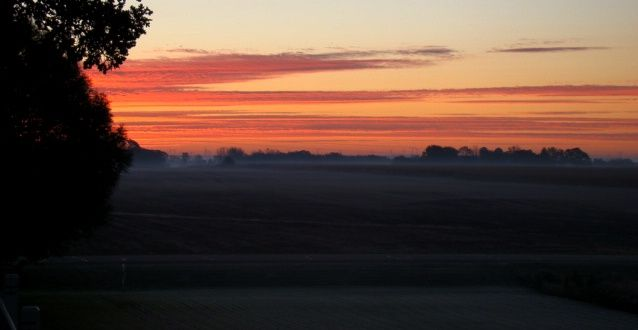 Sunrise from the deck, in Waupun WI
