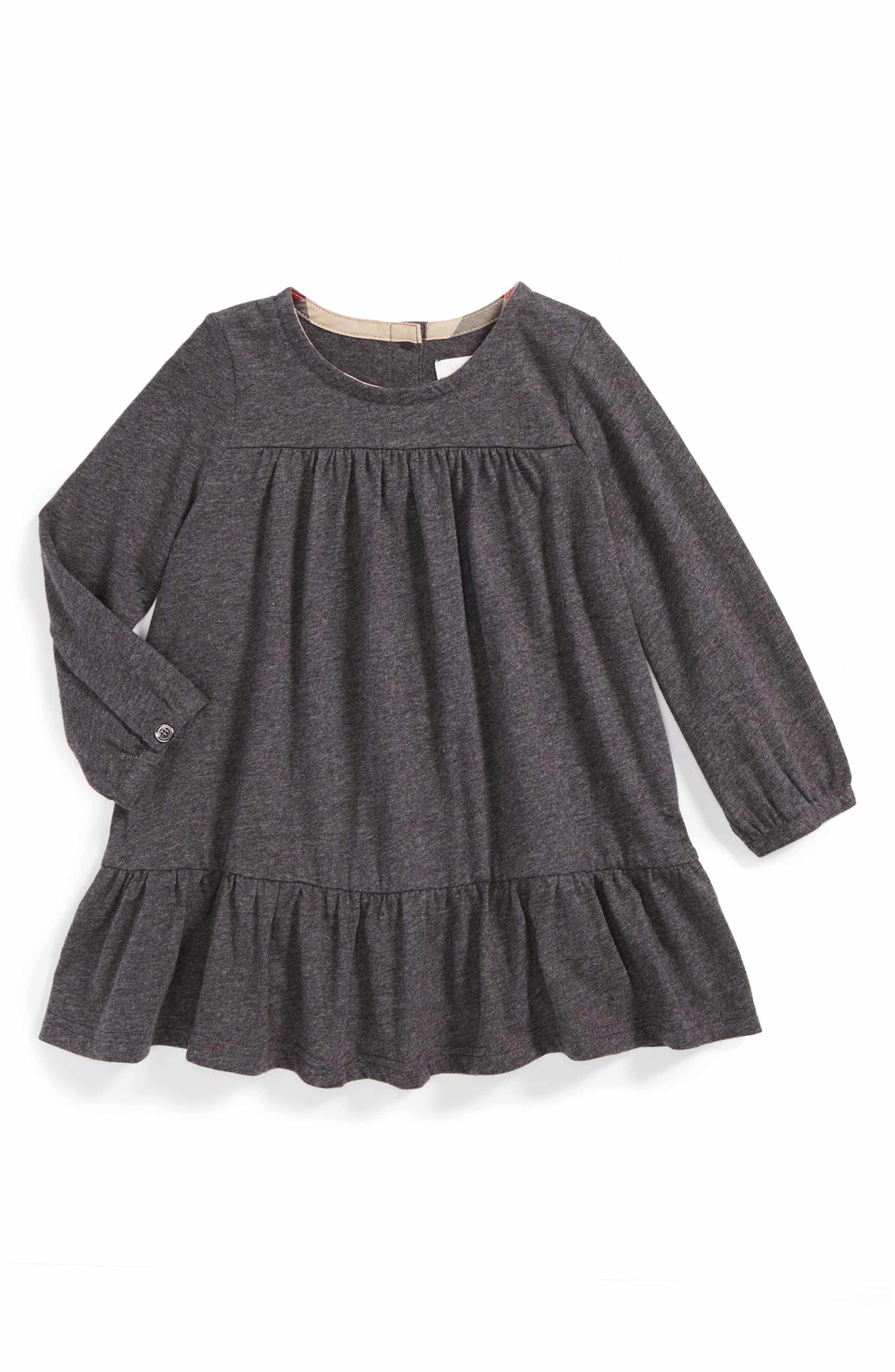Main Image Burberry Long Sleeve Dress Baby Girls