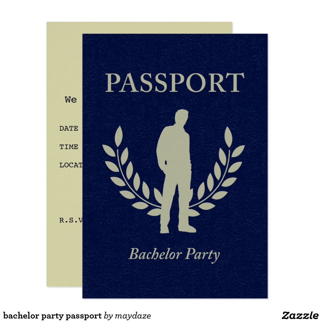 bachelor party passport invitation Passport