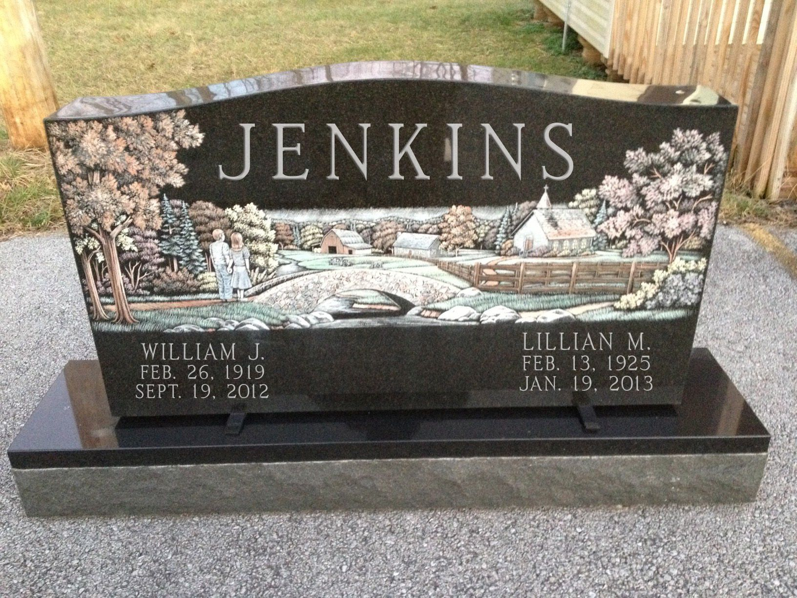 Colorful Laser Etched Memorial Laser Etched Monuments
