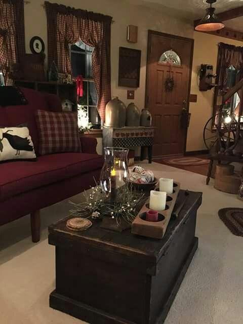Oh So Pretty Primitive Living Room Colonial Decor Primitive Decorating Country