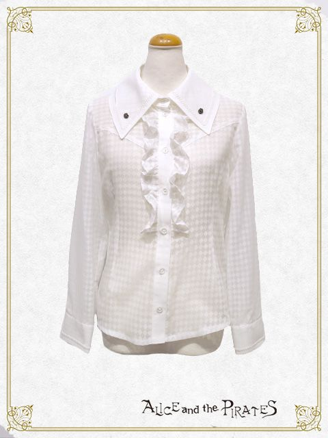 Alice and the Pirates Blouse with rose buttons
