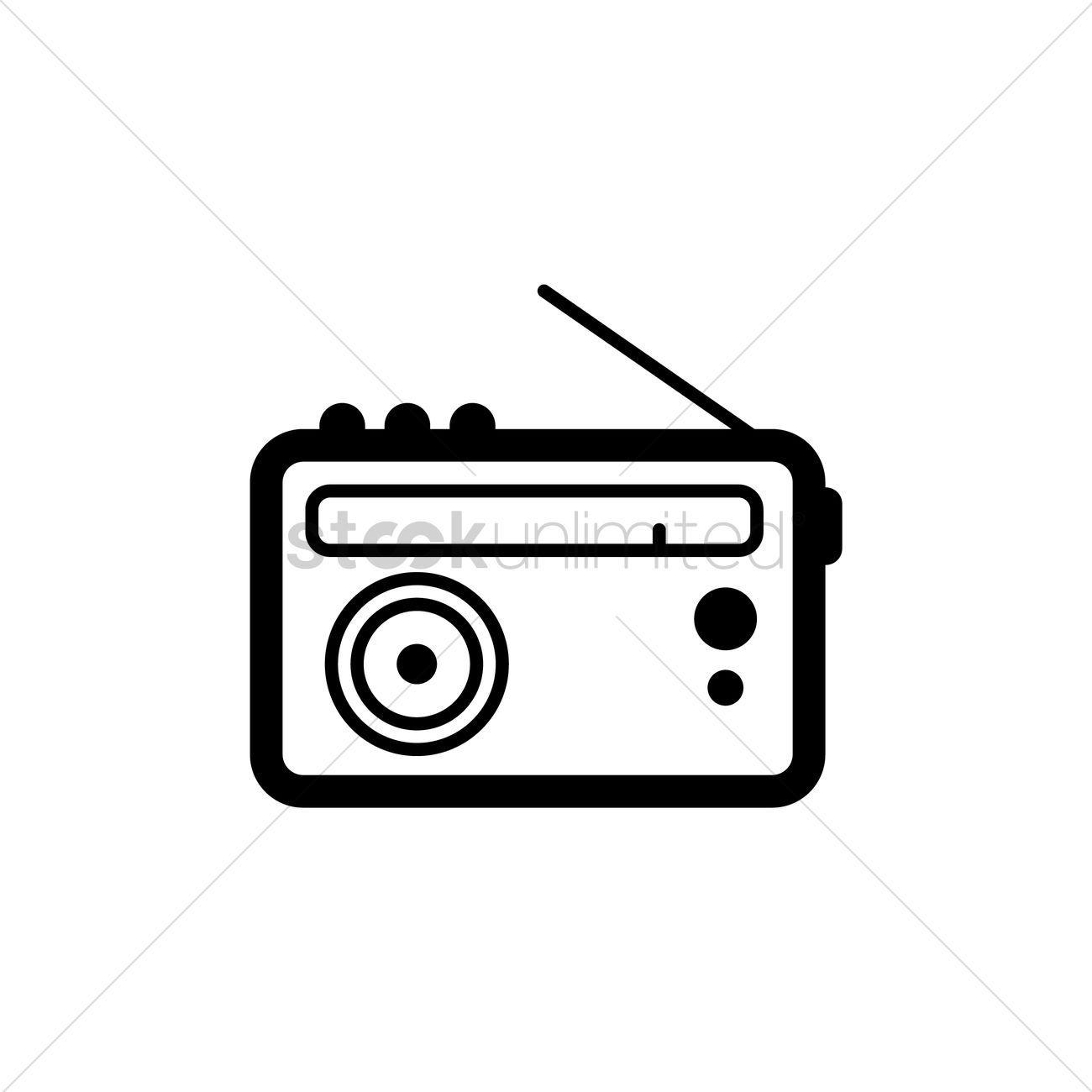 35+ Radio Black And White Clipart