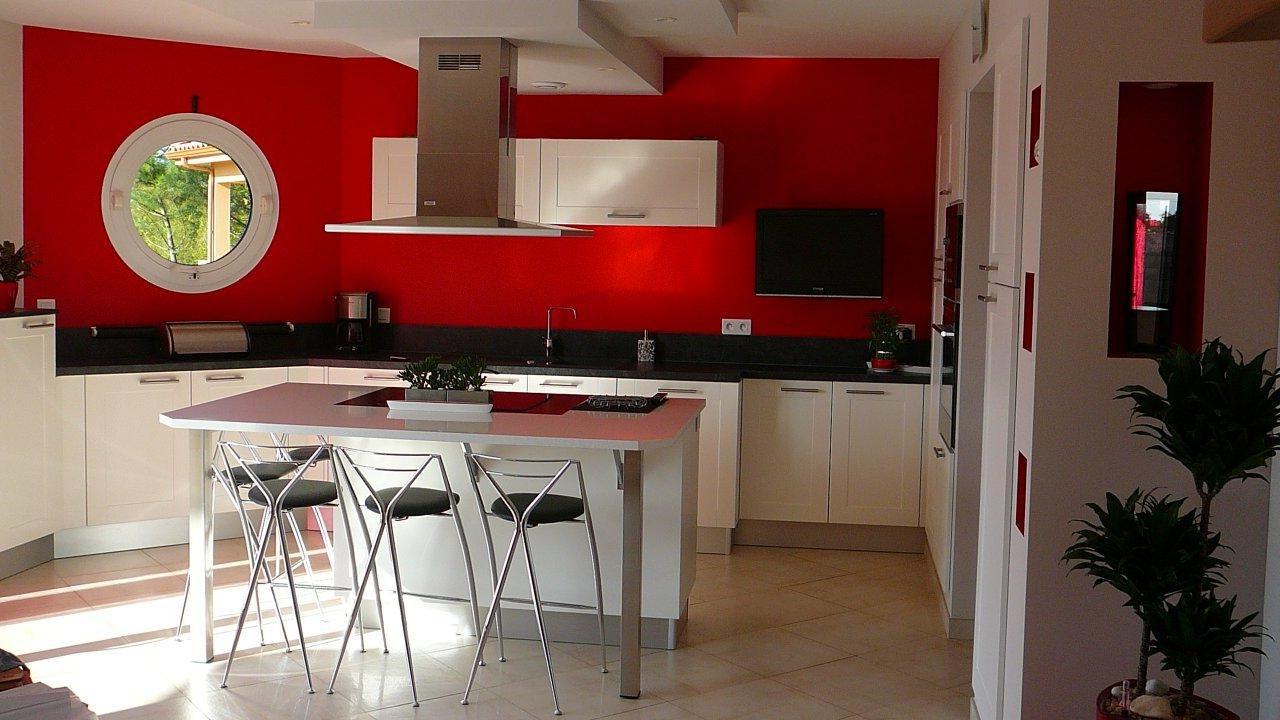 cuisine avec ilot central am int cuisine pinterest. Black Bedroom Furniture Sets. Home Design Ideas
