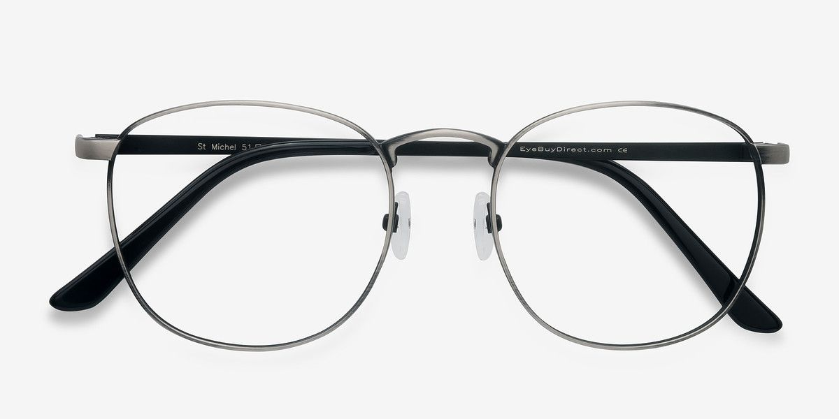 e7da23450292 St Michel Gunmetal Metal Eyeglasses from EyeBuyDirect. Discover exceptional  style, quality, and price. This frame is a great addition to any collection.