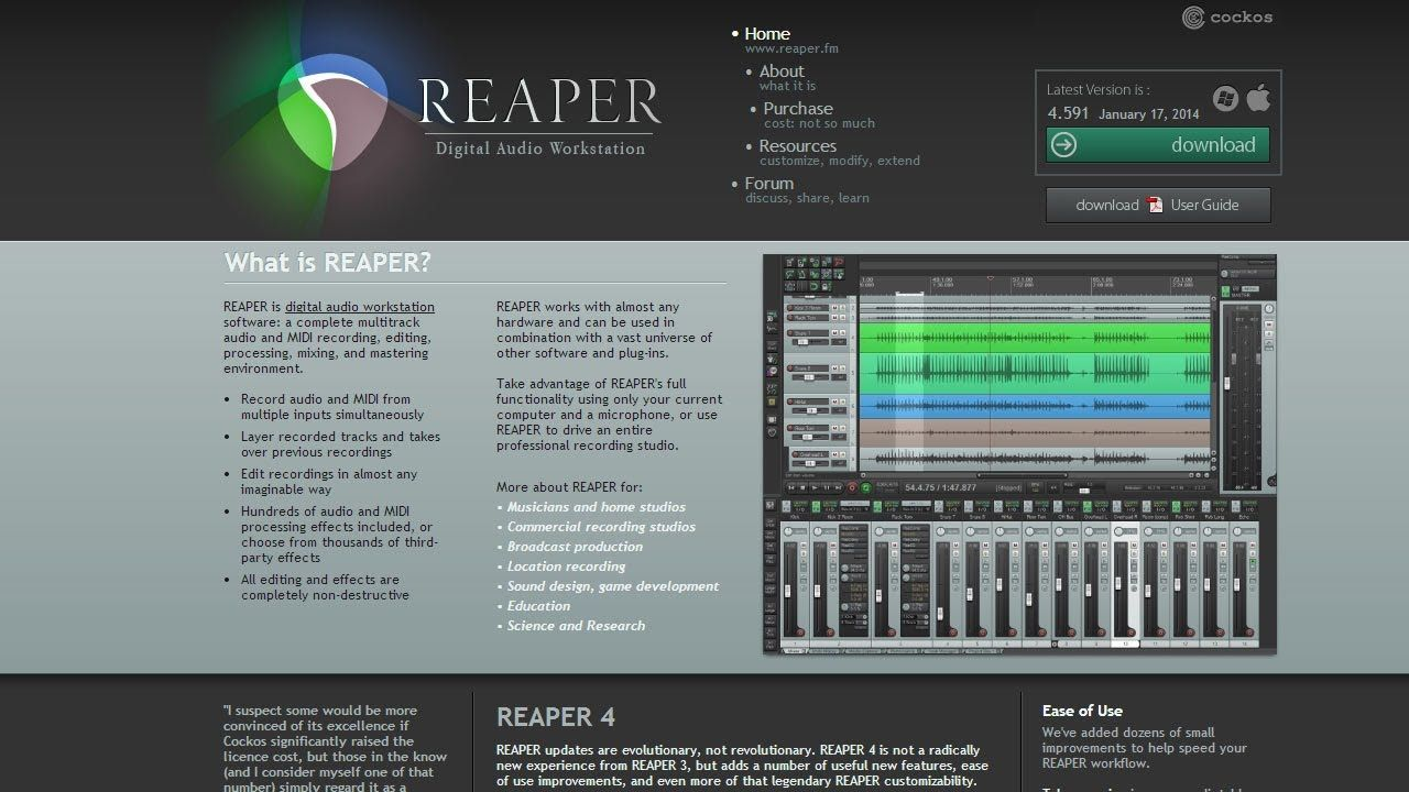 Reaper Daw Why I Record With It Not Completely Guitar Related But This Informative Podcast Video Highlig Digital Audio Workstation Reaper Music Engineers