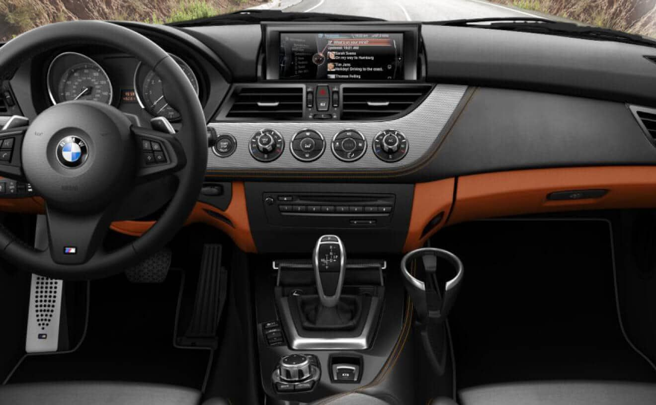 The Bmw Z4 Sdrive35is With Alcantara And Leather Interior Bmw Z4