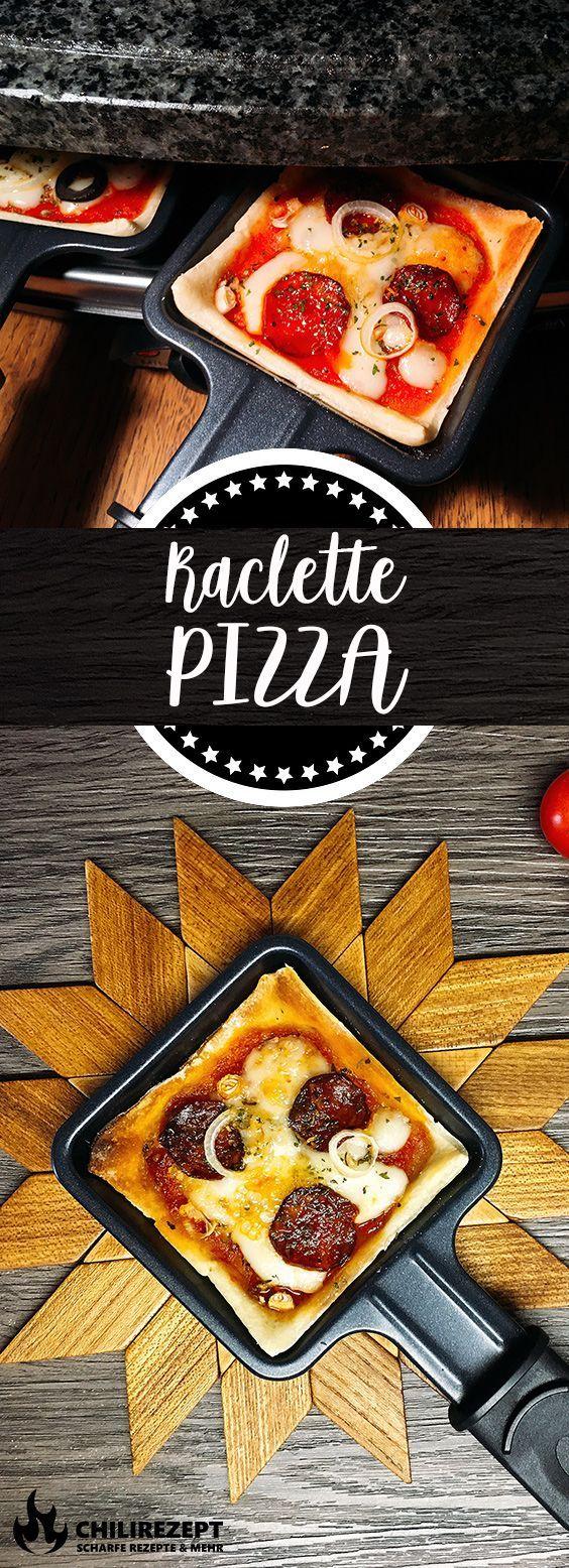 Raclette Pizza Pfännchen | Rezept | Chilirezept.de