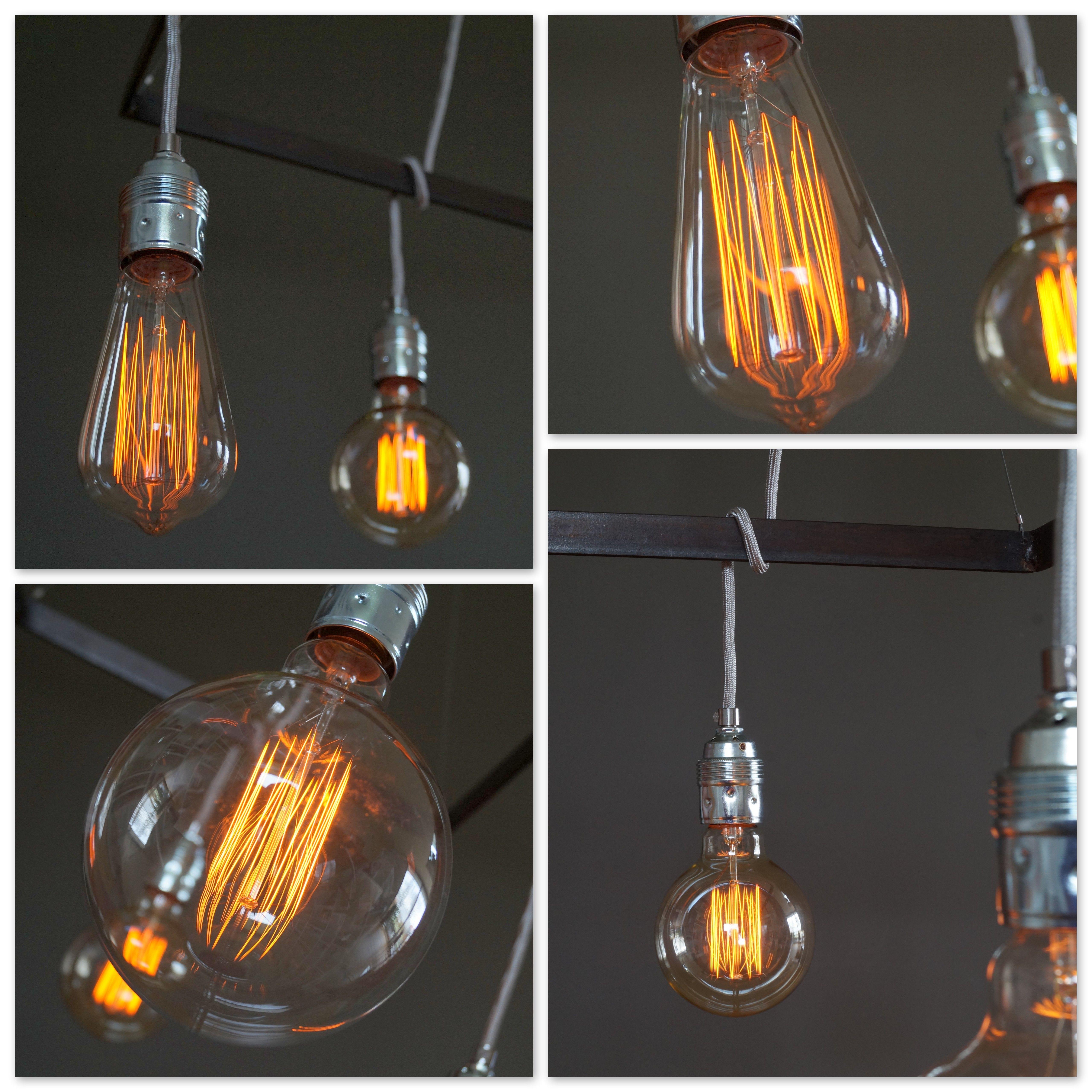 E27 Sockel Glühbirnen Edison Benennen Retro Anhänger Lampenfassung Decke Neu