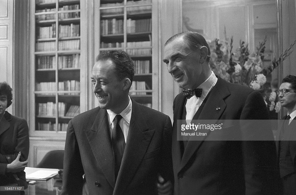 On 17 October 1957 The Writer Albert Camus Receives Nobel Prize For Literature That Reward A Who Rendered Great Service To Humanity Thanks