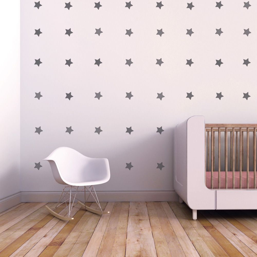 This set of patterned stars wall decal is a delight. Just peel-and-stick each star onto the wall and get ready to stargaze. No telescope needed. And since all wall decals are removable, arrange and re-arrange your night sky as you wish.