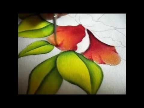 Como Pintar Una Flor Con Luces Y Sombras Youtube Videos De Pintura Pintura En Tela Flores Pintura De Un Trazo