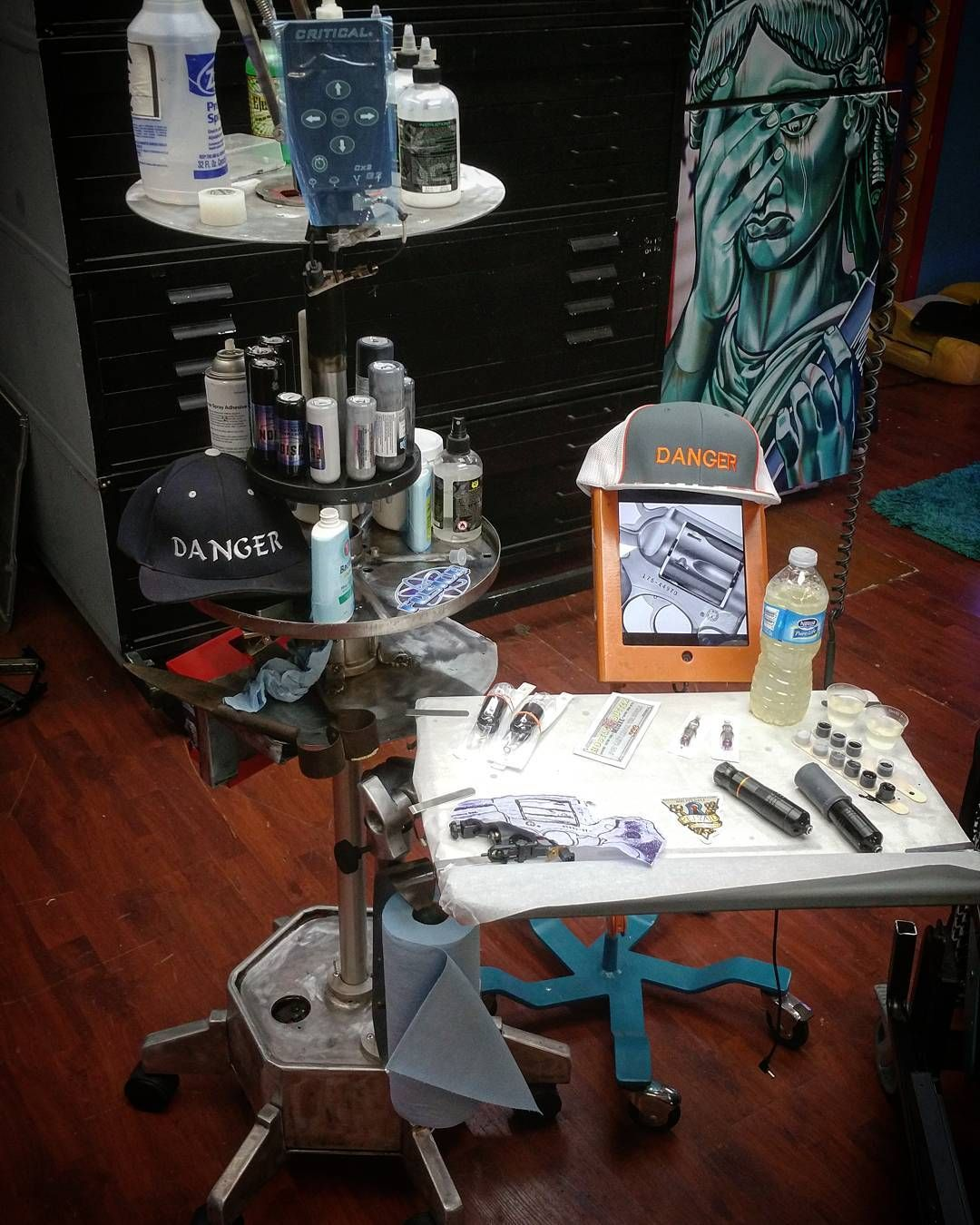 My current tattoo setup. Custom station deep cycle rechargeable ...