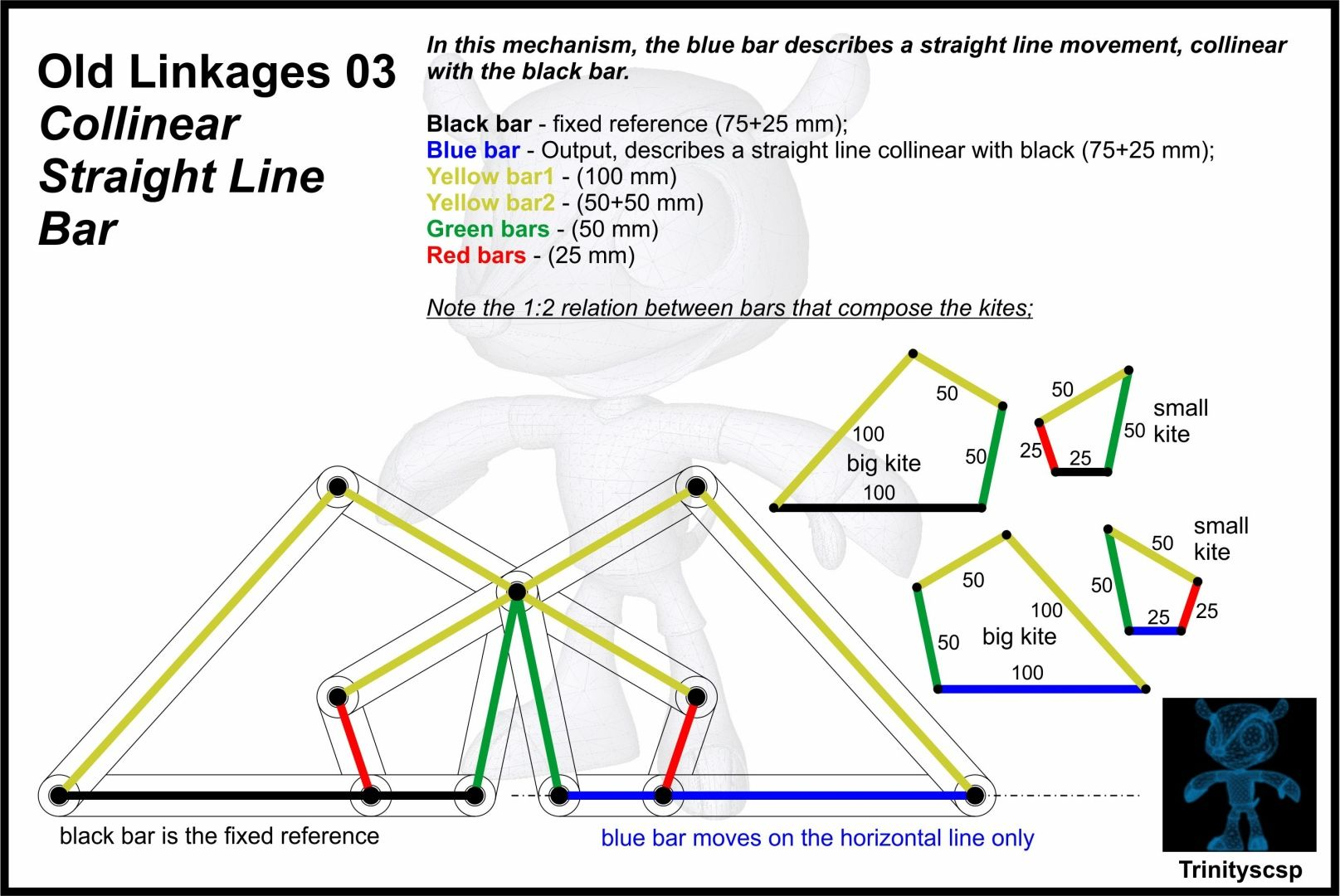 Old Linkages 03 Collinear Straight Line Bar - SOLIDWORKS