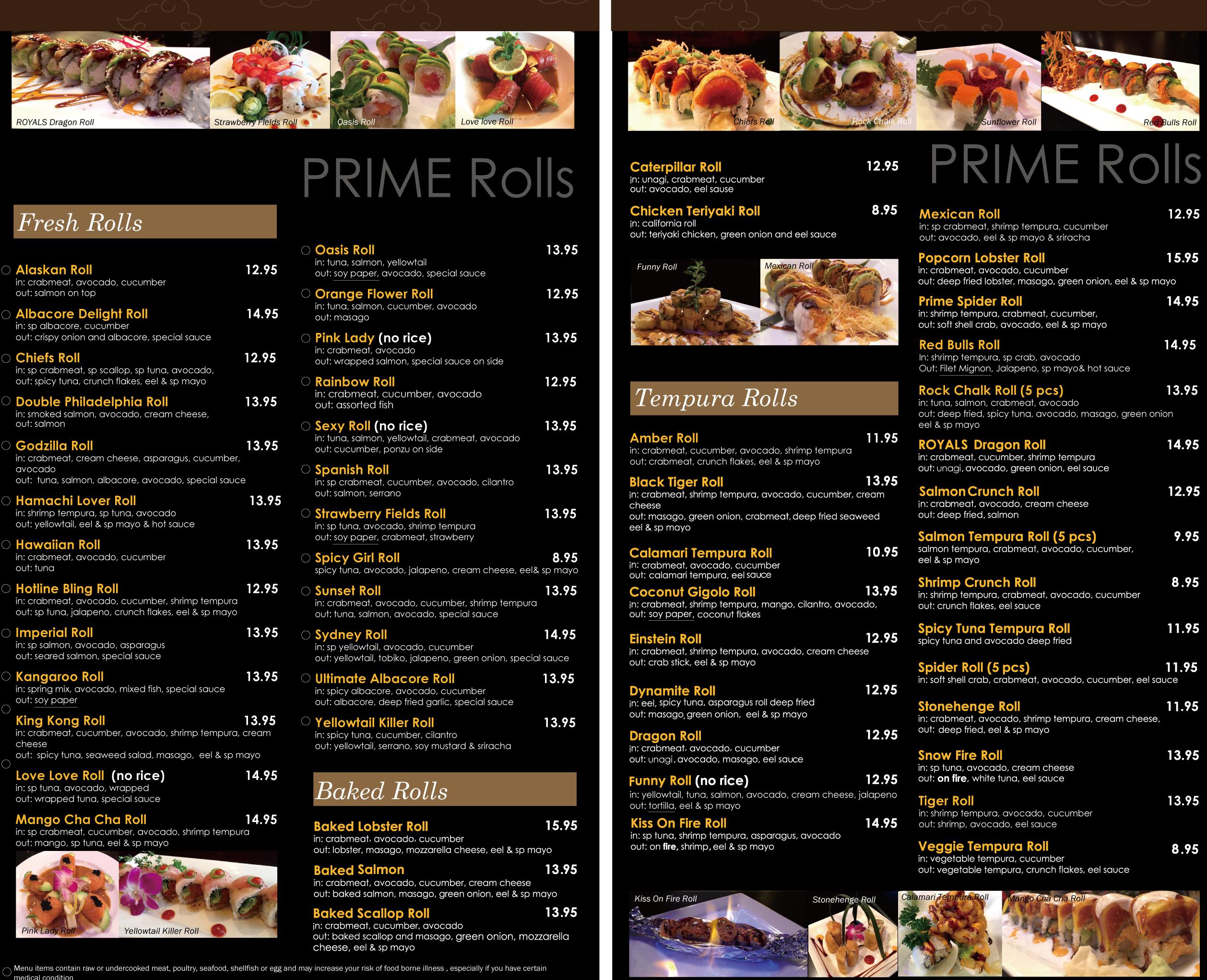 Prime Sushi Kc Sushi Albacore Fresh Rolls