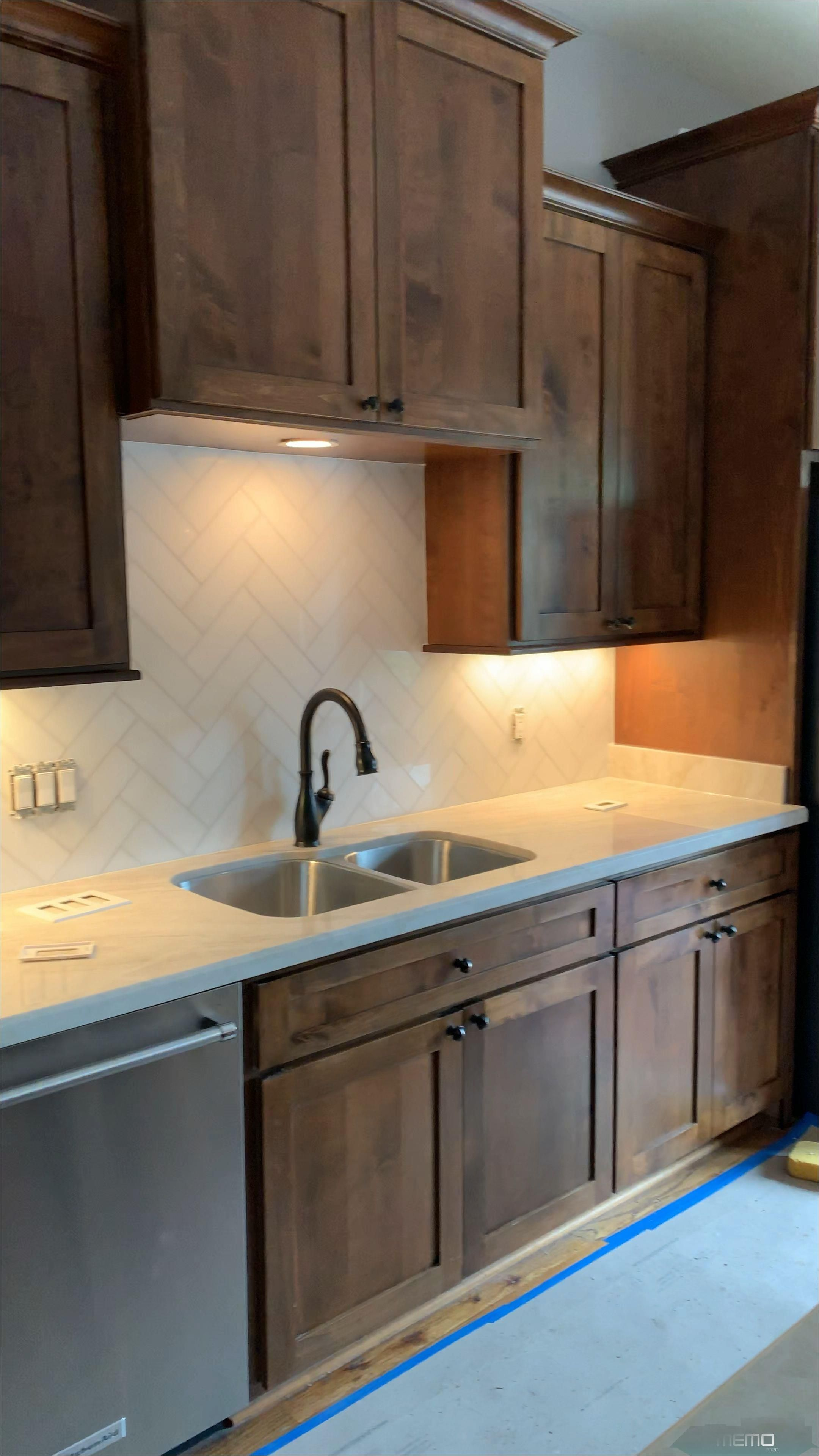 Apr 7 2019 Herringbone Kitchendesign Backsplash Whitemarble Kitchenideas Cabinetsabov In 2020 Rustic Kitchen Backsplash Rustic Kitchen Rustic Farmhouse Kitchen