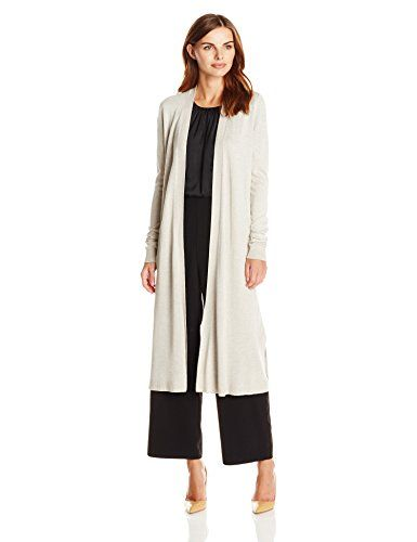 Lark Ro Womens Long Sleeve Lightweight Long Cardigan Sweater Khaki Heather  Large -- Check out this great product.(This is an Amazon affiliate link and  I ... 02cdfd339