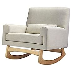 image of Nursery Works Sleepytime Rocker in Oatmeal with Natural Legs