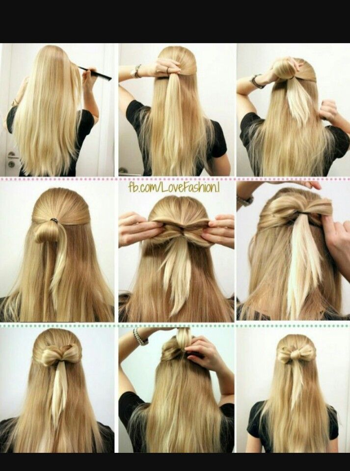 How To Do A Bow Haurstyle Hairstyles Pinterest Cabello