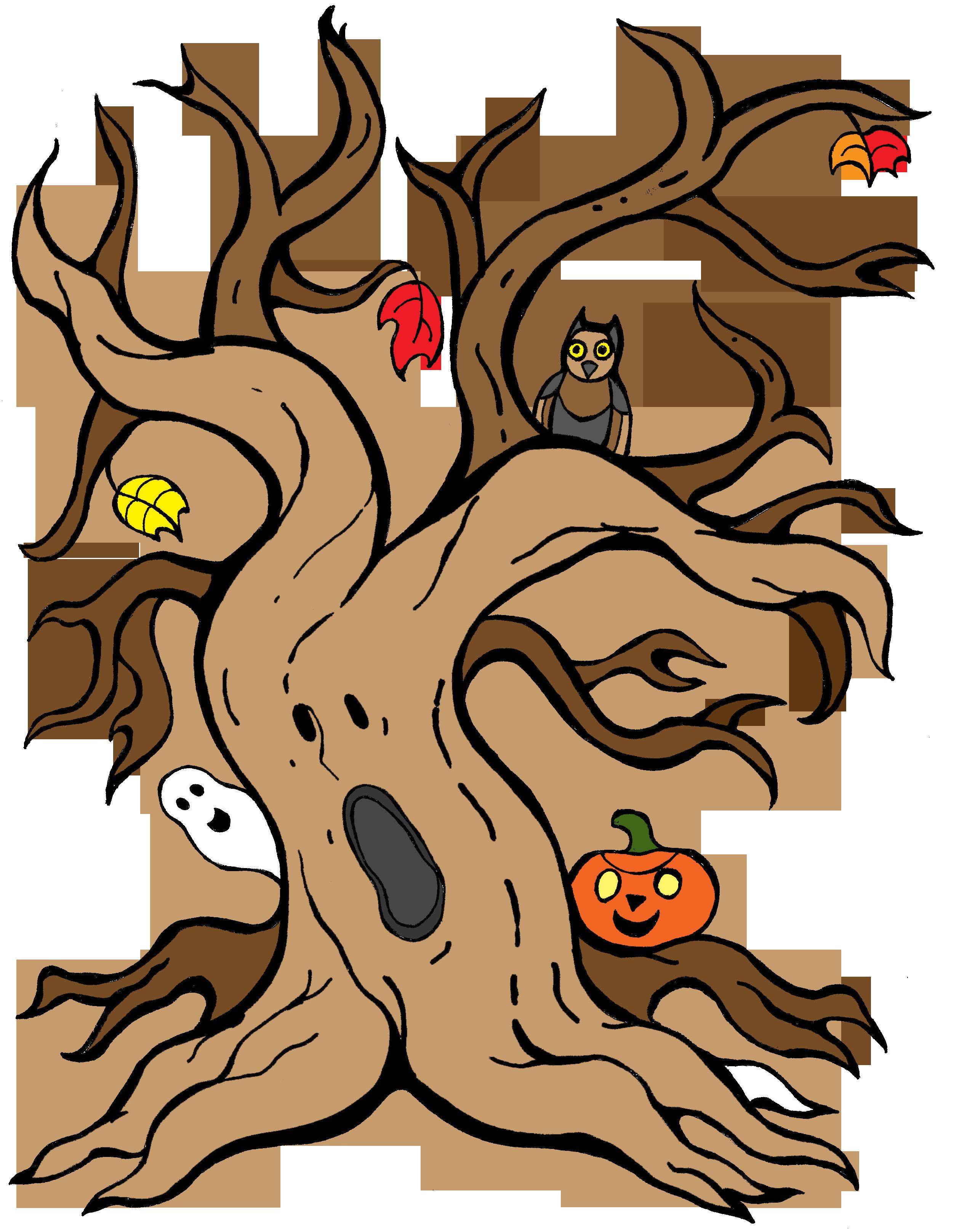 Fun and spooky Halloween tree. Halloween trees, Spooky