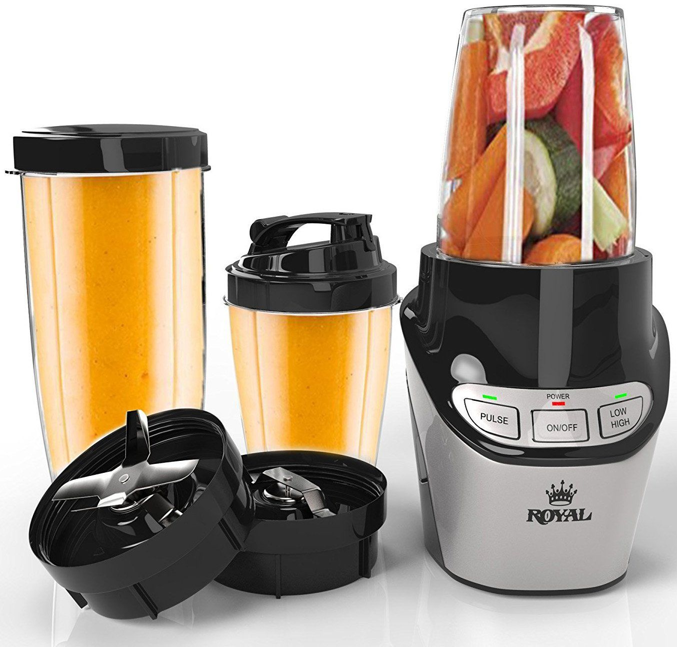 Royal Professional 8-Piece Blender Set - High-Speed Food Processor (1000  Watts) Grinder/Extractor Blade - Perfect for Smoothies, Shakes, and Juices  >>> Find ...