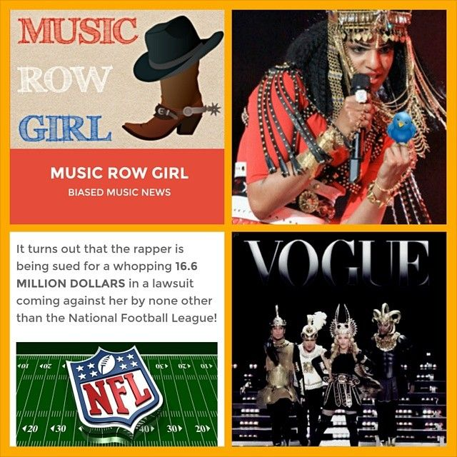 Check out my article about M.I.A, the rapper that the NFL is suing for $16.6 Million Dollars! #MIA #mia #srilanka #rapper #femalerapper #breachofcontract #superbowl #halftime #madonna #madge #materialgirl #vogue #nickiminaj #LMFAO #CeeLoGreen #scandal #flickoff #middlefinger #offensive #censor #nfl #football #lawsuit #music #musicnews #musicrow #musicrowgirl #nashville #blog #blogger