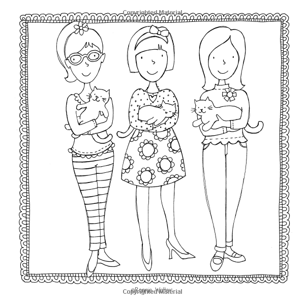 AmazonSmile: The Coloring Cafe-Volume One: A Coloring Book for Grown-Up Girls (9780989826648): Ronnie Walter: Books