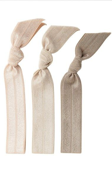 Protect your ponytail from causing breakage. Emi-Jay  Pearl  Hair Ties  (3-Pack) available at  Nordstrom 71d2e120895