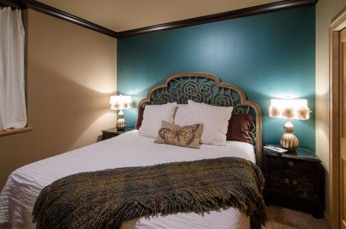 Painted Interior Walls Stripped Bedrooms In Blue And Brown Ralph Lauren Metallic Turquoise Interior Wall Paint Bedroom Makeover Accent Wall Bedroom