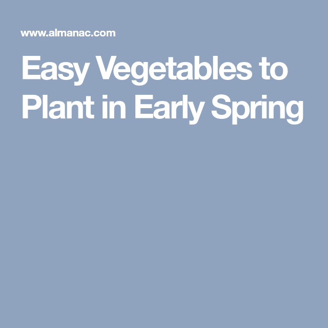 Easy Vegetables To Plant In Early Spring Early Spring 400 x 300