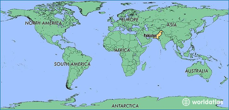 This Is Where Pakistan Is Located On A Map America Map South