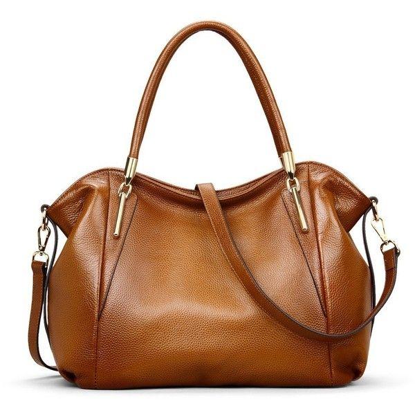 Kattee Women s Vintage Genuine Leather Hobo Tote Shoulder Bag (96 ... 9680f053202d3