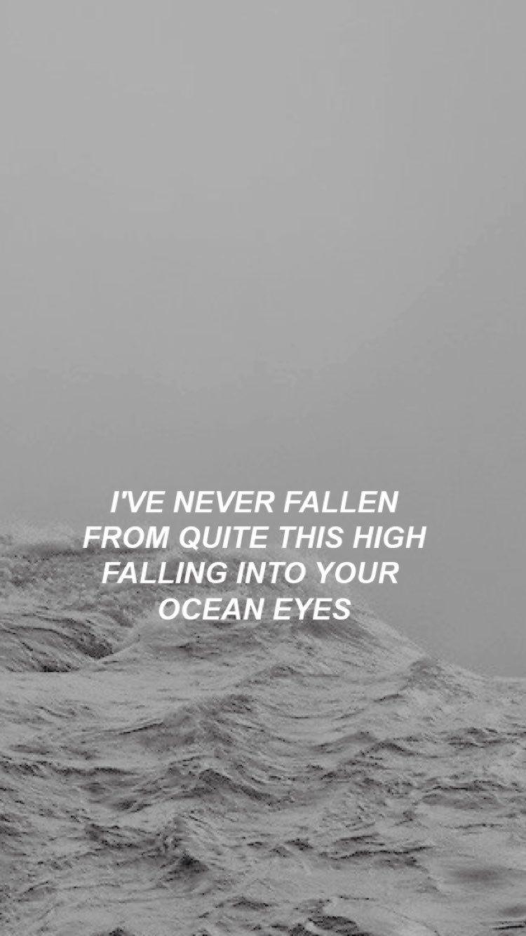 Billie Eilish Ocean Eyes Lyric Wallpaper Billie Eilish Ocean Eyes Billie Eilish Song Lyrics Wallpaper
