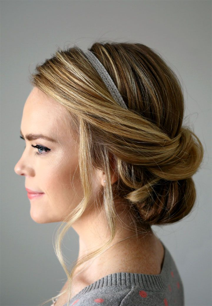 Wedding Inspiration Updo With Headband Headband Hairstyles
