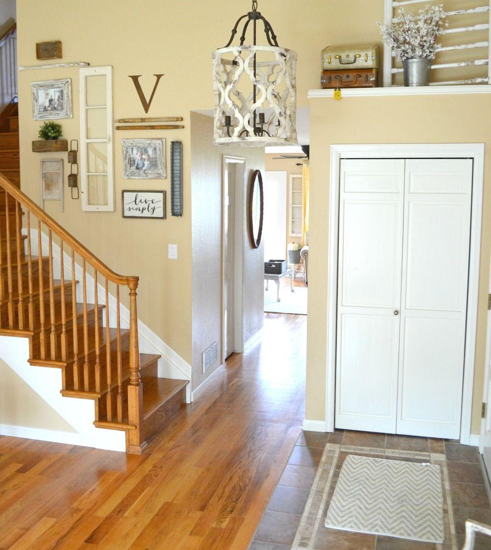 Updated Entryway The Prettiest Chandelier Farmhouse