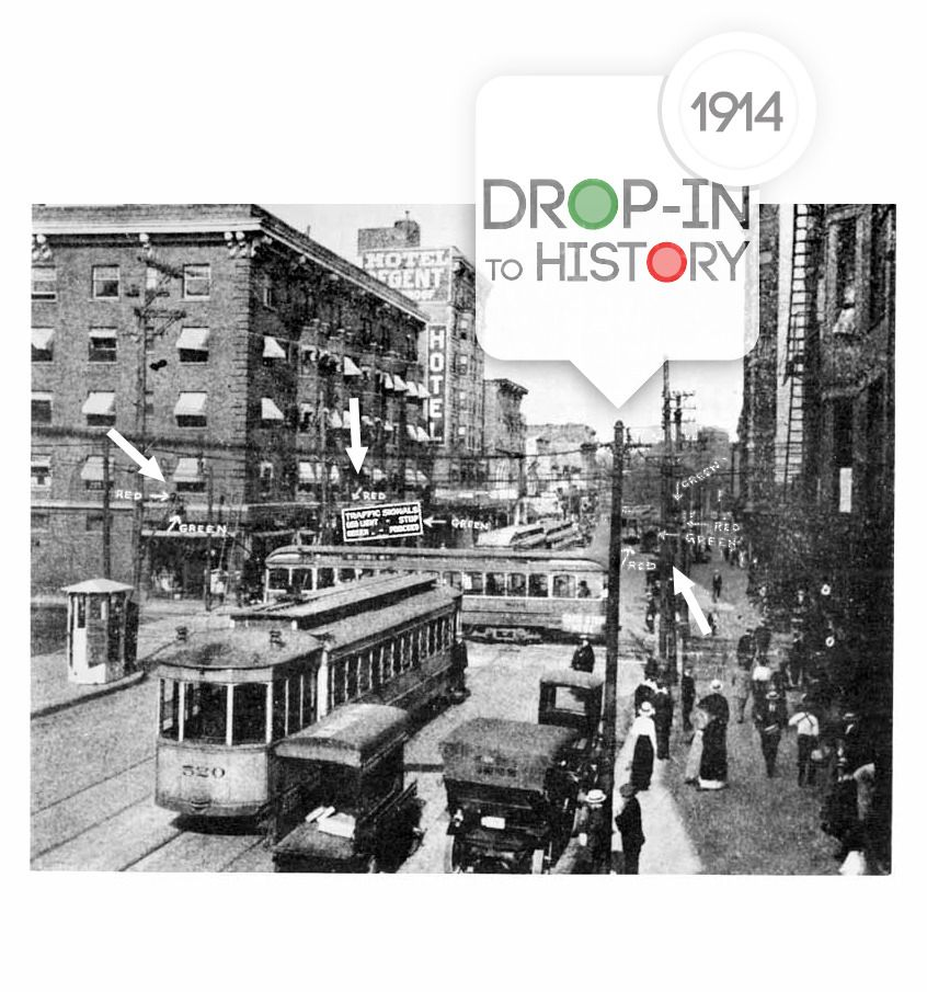 Today S Drop In To History Takes Us The Crossroad Cleveland Ohio Where World First Electric Traffic Light Was Installed