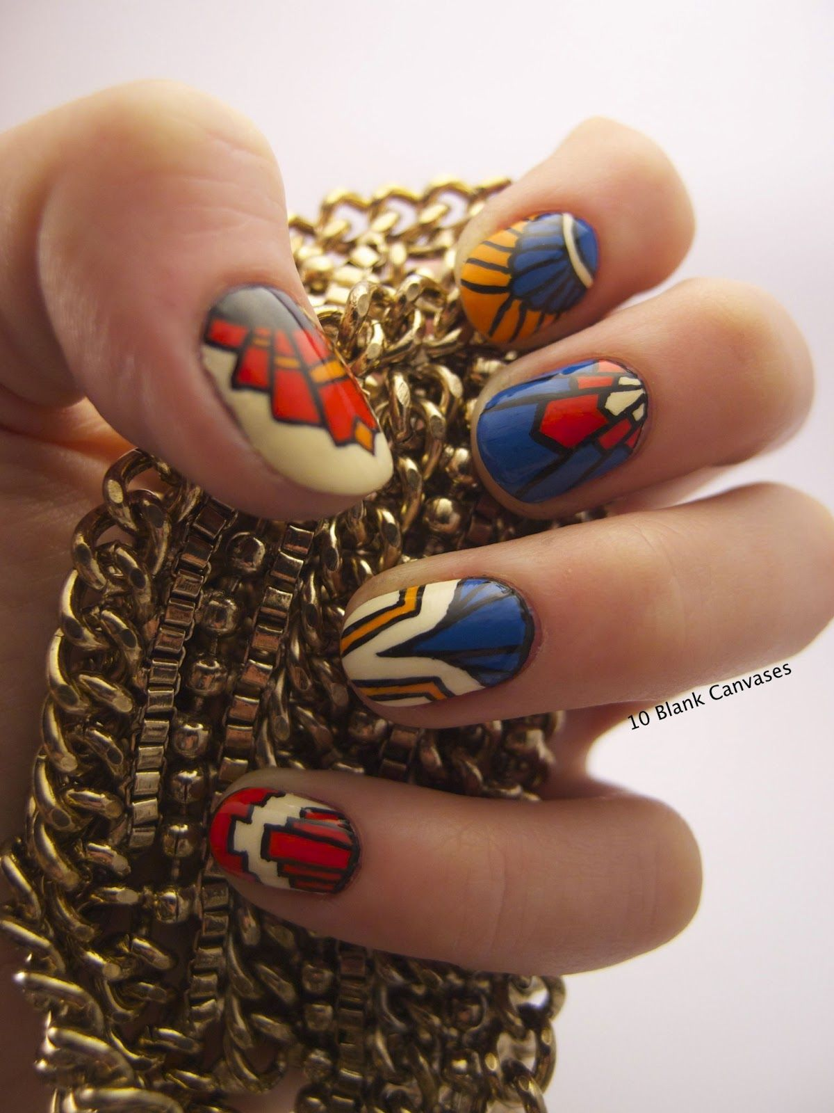 10 Blank Canvases: Art Deco Nail Art | Nail Art By Others ...