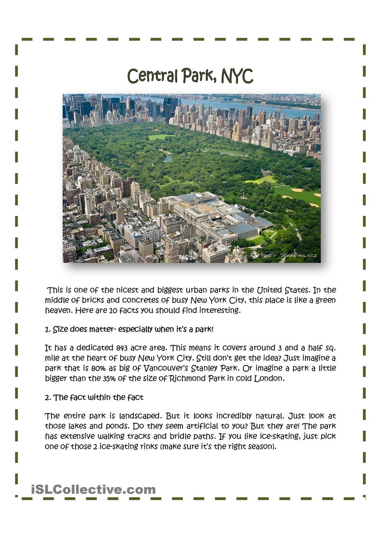 Central Park New York City Teaching Ideas Pinterest