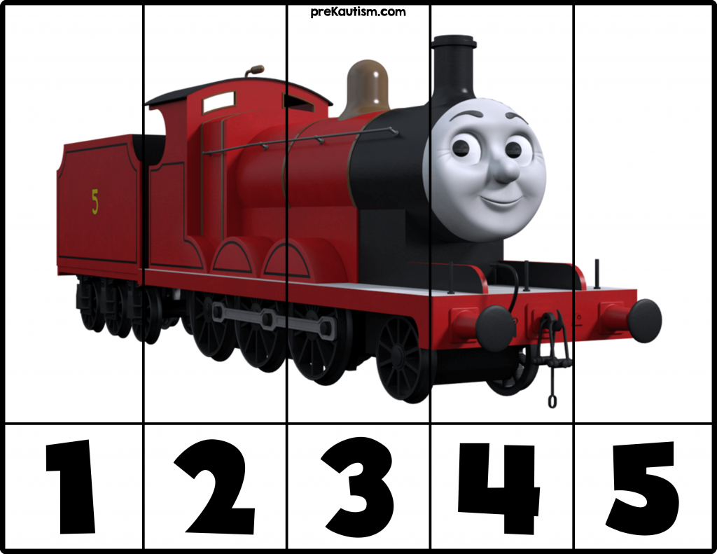 Workbooks thomas the tank engine printable worksheets : FREE! Printable Thomas & Friends Number Puzzles - Autism ...