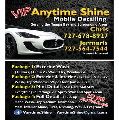 Mobile Detailing Business Cards Business Cards Pinterest - auto detailing flyer template