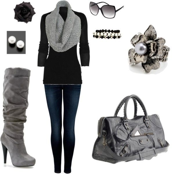 My first polyvore. I <3 the boots.