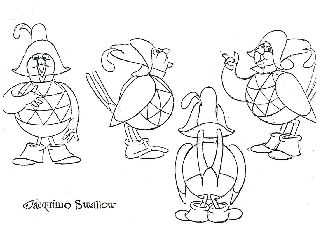 don bluth thumbelina coloring pages sketch coloring page
