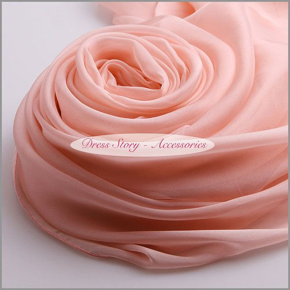 Dusty Rose Pink Silk Scarf